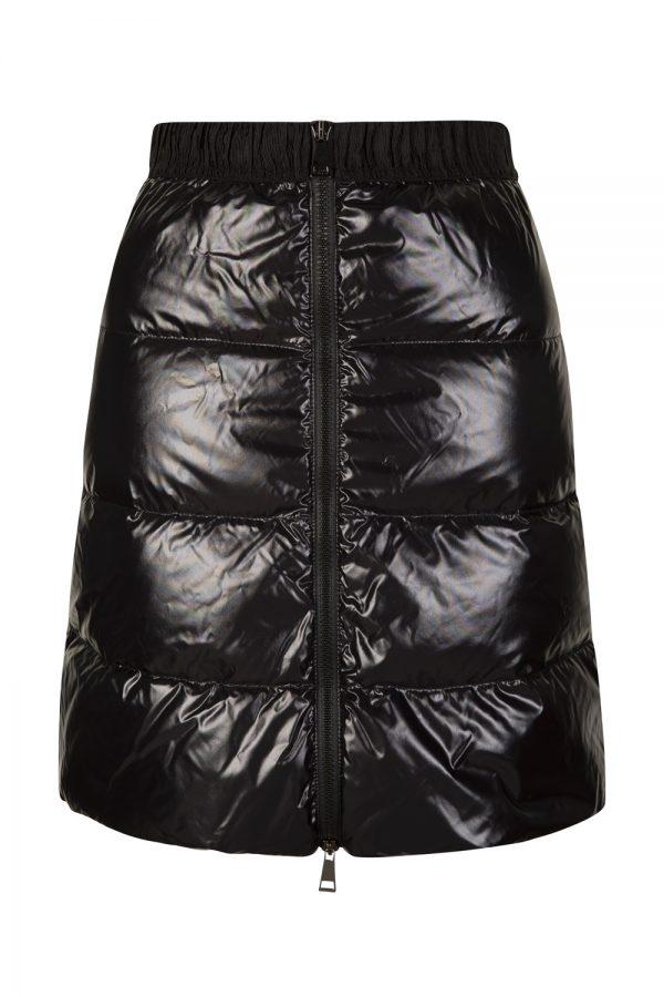 Moncler Gonna Women's Quilted Nylon Short Skirt Black