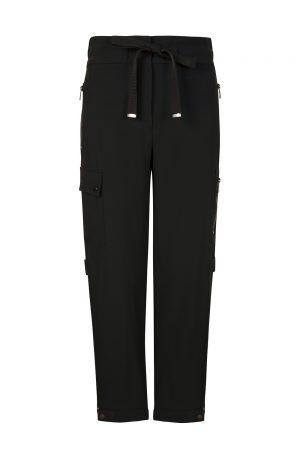 Moncler Women's Cargo Trousers Black