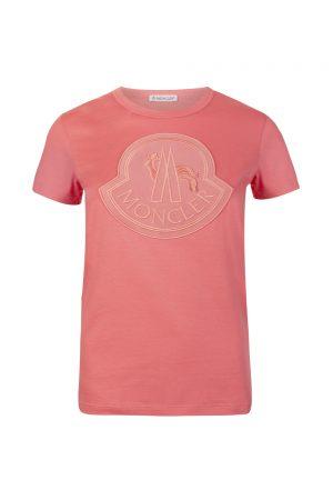 Moncler Women's Logo Embellished T-shirt Pink