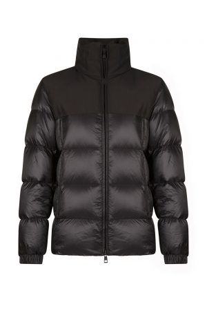Moncler Faiveley Men's Quilted Shell Jacket Black