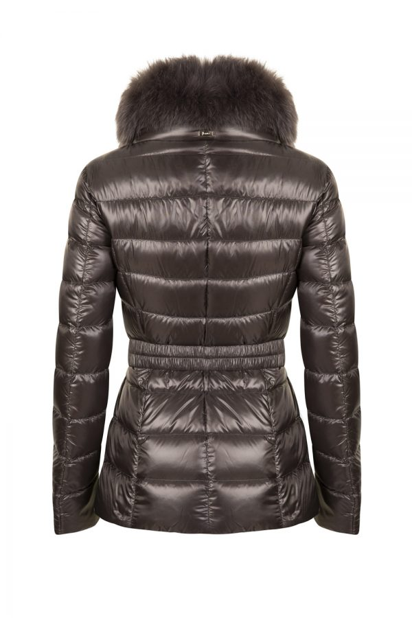 Herno Women's Claudia Belted Jacket Grey