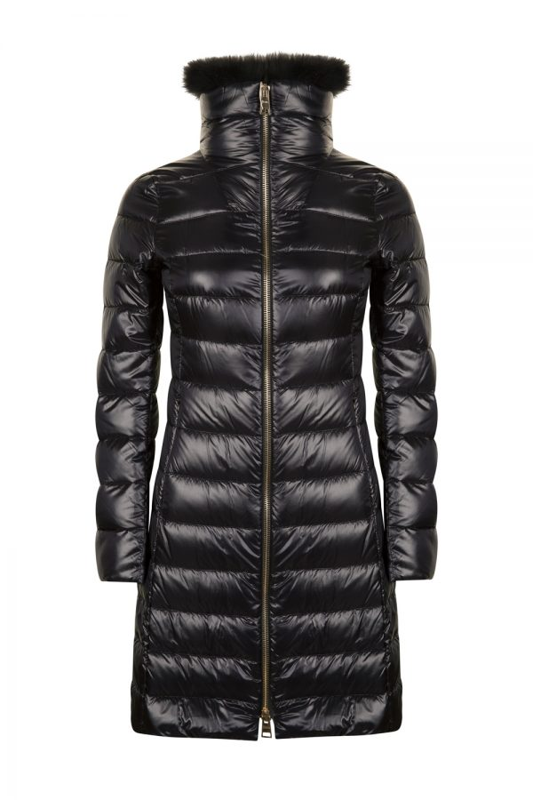 Herno Women's Elisa Fur Collar Down Coat Black