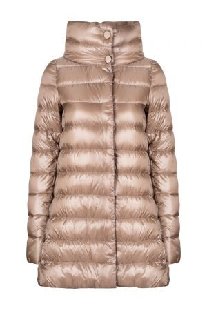 Herno Women's Amelia High Neck Down Coat Brown