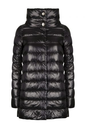 Herno Women's Amelia Funnel Neck Shell Coat Black