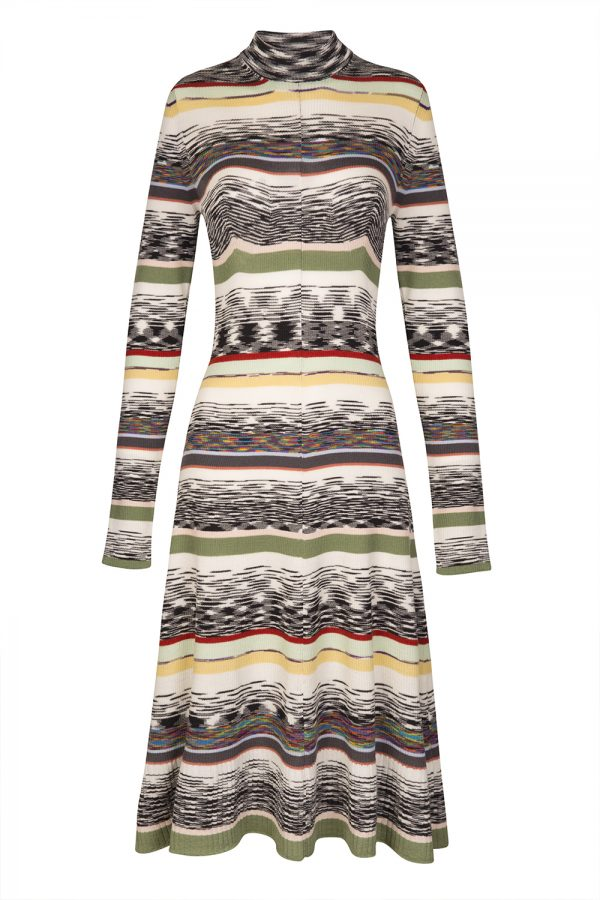 Missoni Women's Mixed Pattern Wool Dress Multicoloured