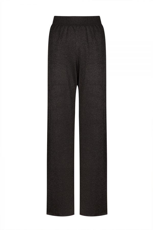 Missoni Women's Lurex-knitted Wide-leg Trousers Black