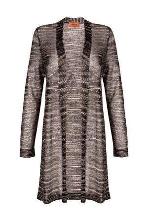 Missoni Women's Sequin Embellished Long Cardigan Black
