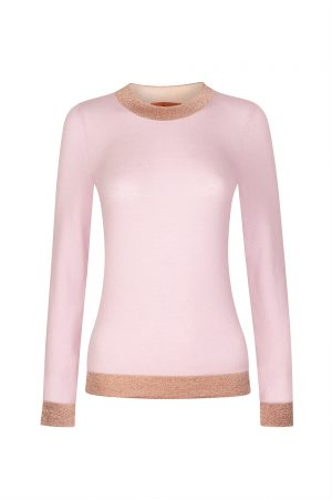Missoni Women's Contrast Metallic Band Sweater Pink