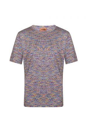 Missoni Men's Crew Neck Striped T-shirt Multicoloured