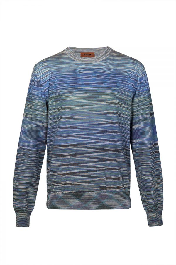 Missoni Men's Space-dyed Wool Sweater Blue