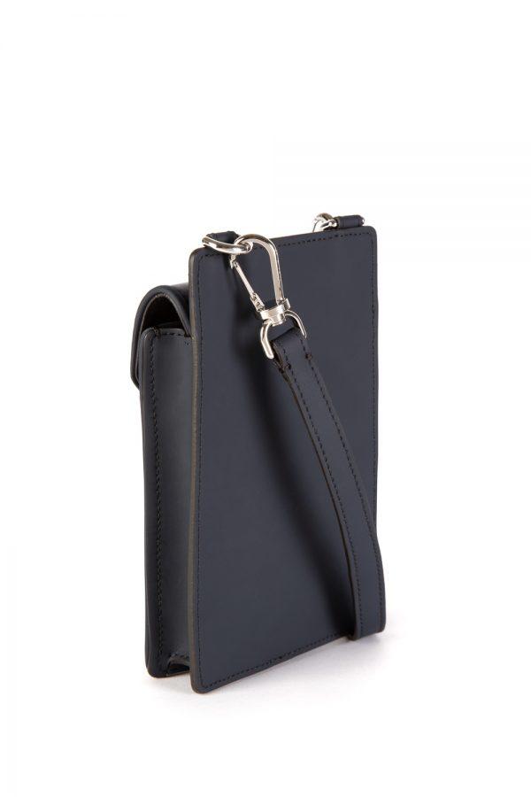 Moncler Men's Quilted Phone Case Bag Navy
