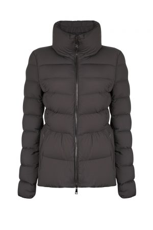 Moncler Neva Women's Stretch Nylon Padded Jacket Grey