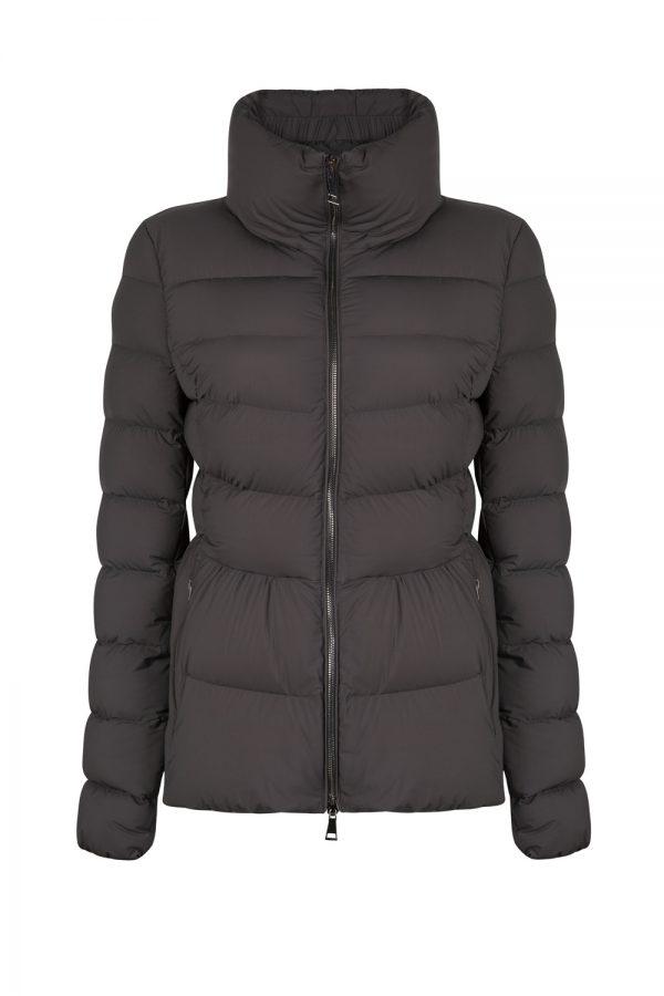 Moncler Neva Women's Stretch Nylon Padded Jacket Grey