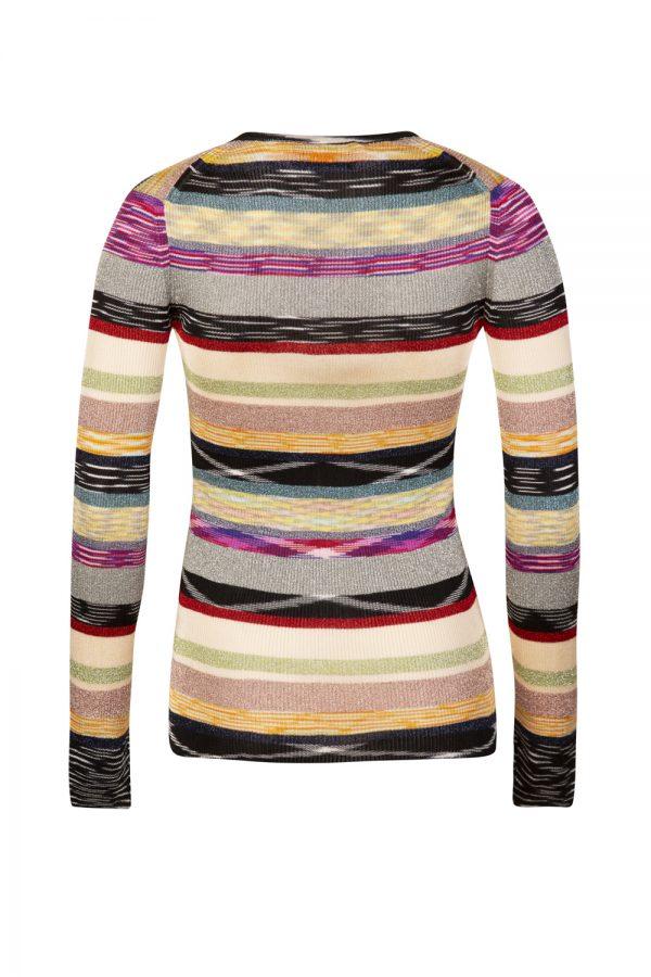 Missoni Women's Mixed Stripe V-neck Sweater Multicoloured
