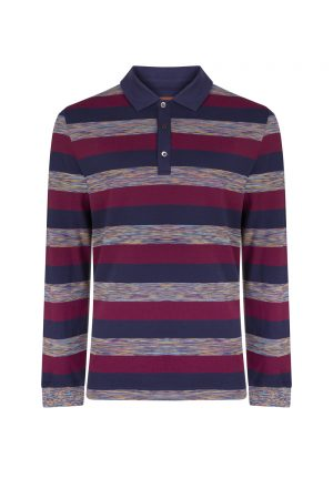 Missoni Men's Rugby Polo Shirt Burgundy