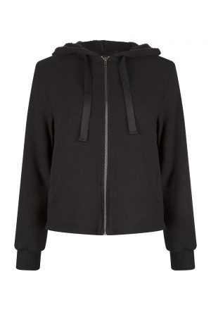 Velvet Molly Women's Fleece Lined Hoodie Black
