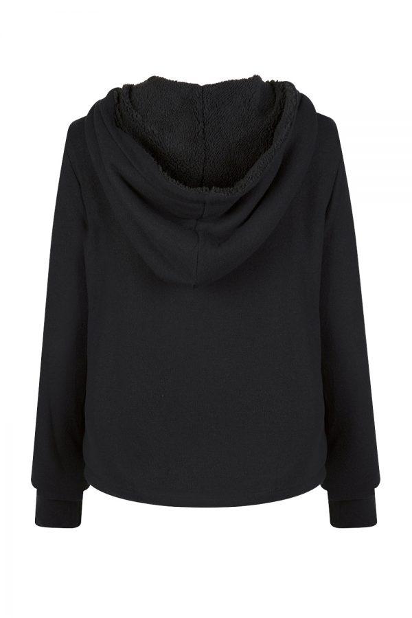 Velvet Molly Women's Fleece Lined Hoodie Black