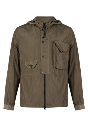 C.P. Company Men's Goggle Hood Nylon Jacket Khaki