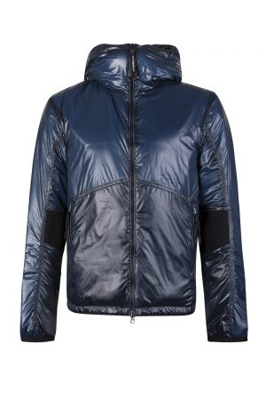 C.P. Company Men's Goggle Hood Padded Jacket Blue