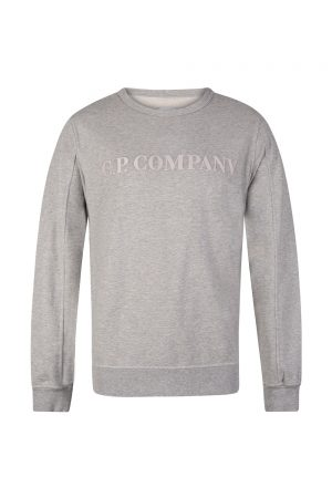C.P. Company Men's Embroidered Logo Sweatshirt Grey