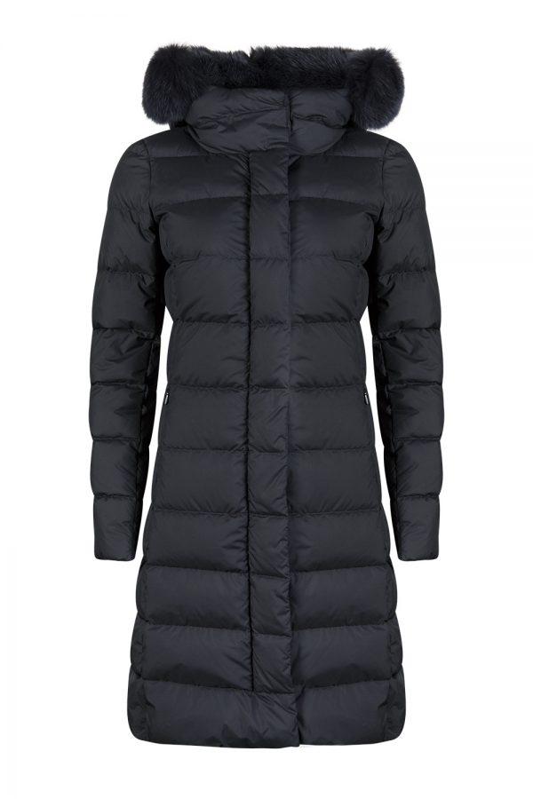 Herno Women's Polartech Fur Collar Down Coat Navy