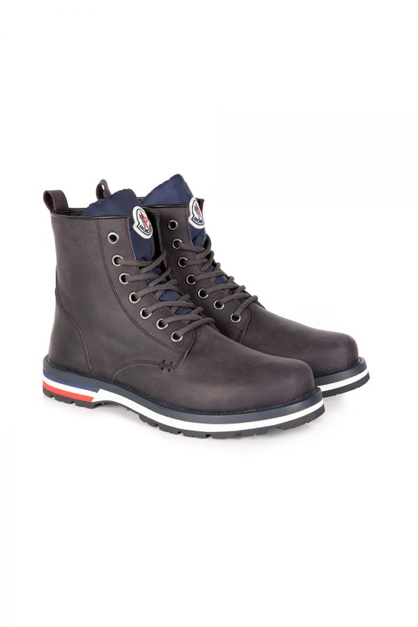 Moncler New Vancouver Men's Suede Boots Grey