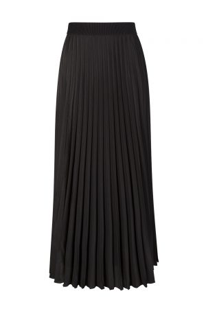 Moncler Gonna Women's Pleated Long Skirt Black