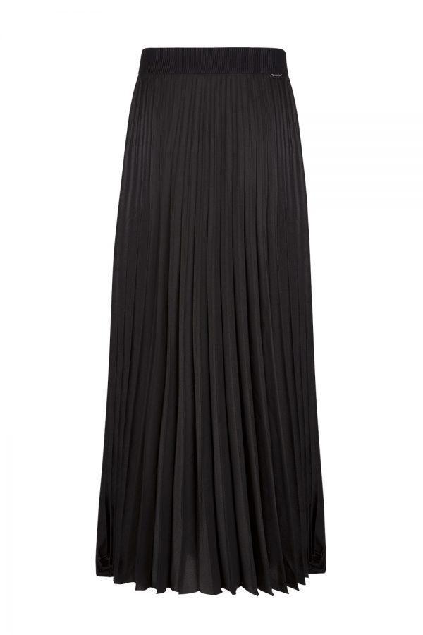 Moncler Gonna Women's Pleated Long Skirt Black