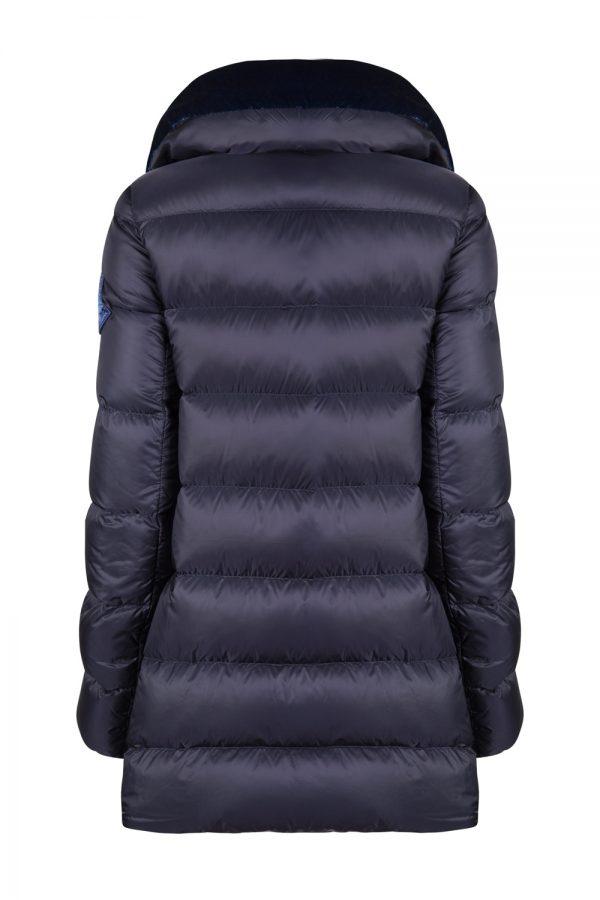 Moncler Torcon Women's Velvet Collar Down Coat Blue