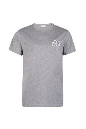 Moncler Men's Appliqué T-shirt Grey