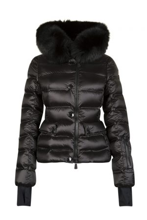 Moncler Grenoble Armotech Women's Fur-trimmed Jacket Black