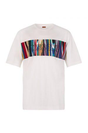 Missoni Men's Colour Box Logo Cotton T-shirt White