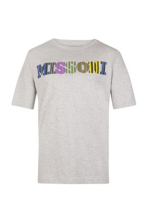 Missoni Men's Colour Logo Cotton T-shirt Grey