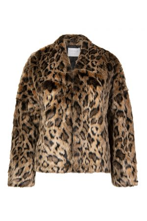 Velvet Women's Anne Lux Fur Jacket Leopard