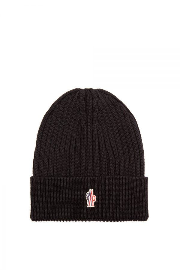 Moncler Men's TG Uni Beanie Hat Black