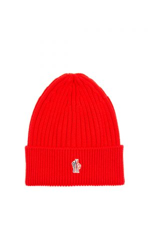 Moncler Men's TG Uni Beanie Hat Red