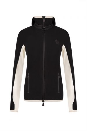 Moncler Grenoble Women's Hooded Sports Jacket Black