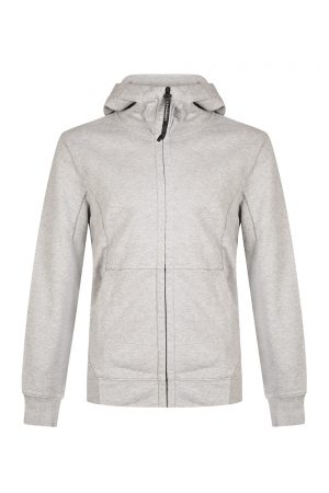 C.P. Company Men's Cotton Goggle Hoodie Grey