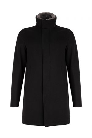 Herno Men's Mink Collar Jacket Black - New W19 Collection