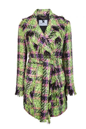 Blumarine Women's Bouclé Car Coat Multicoloured