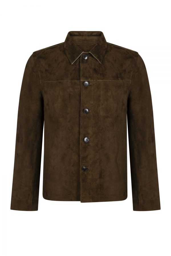 John Varvatos Men's Suede Jacket Brown