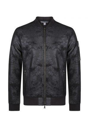 John Varvatos Men's Bomber Jacket Black