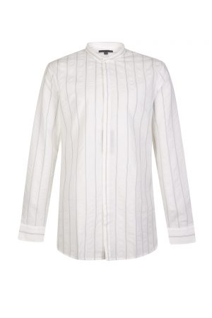 John Varvatos Men's Slim Fit Striped Shirt White