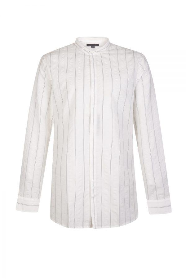 John Varvatos Men's Slim Fit Striped Shirt White