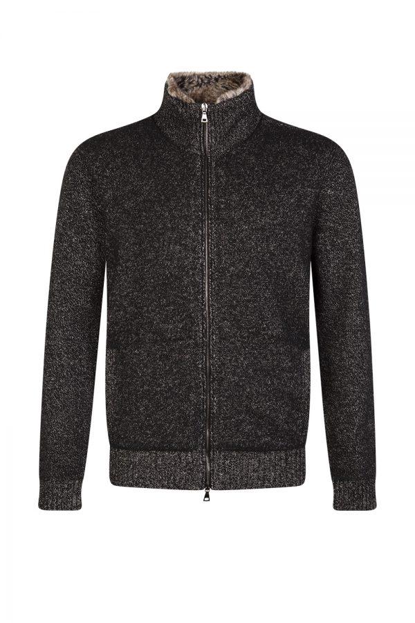 John Varvatos Men's Classic Fit Sweater Jacket