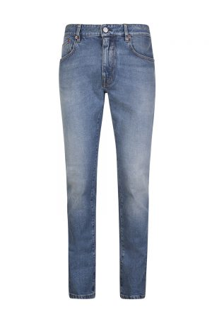 Belstaff Men's Longton Slim-Fit Jeans Stone Wash Indigo