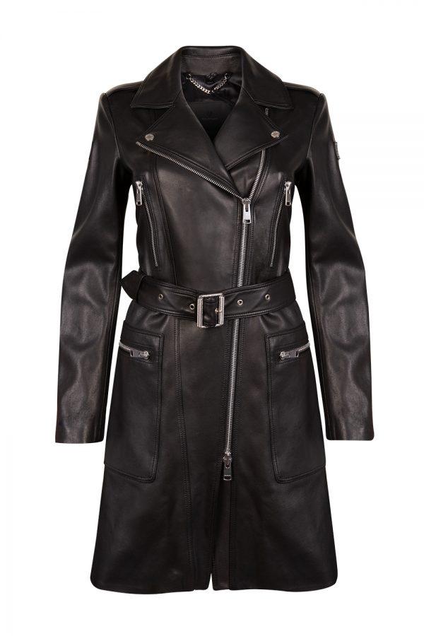 Belstaff Marvingt Leather Women's Jacket Black