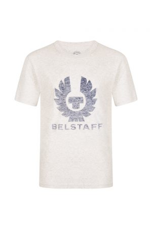 Belstaff Men's Coteland 2.0 Reflective T Shirt Heather Grey Melange