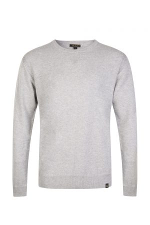 Belstaff Men's Engineered Crew Neck Light Grey Melange