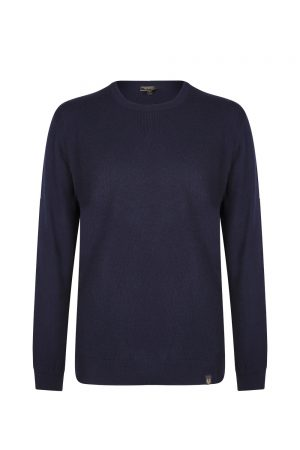 Belstaff Men's Engineered Crew Neck Dark Navy
